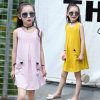 Girls Sweet Sleeveless Nightdress Korean Version of The Round Neck Cotton and Linen Dress