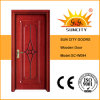 Front Fancy Teak Wood Door, Wood Carving Design (SC-W094)