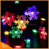 Colorful Snowflake Solar Powered Strings Lights for Outdoor Holiday Tree