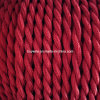 Dark Red Lamp Decorative Twisted Wire