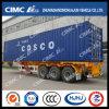 Cimc Huajun 40FT Skeleton Container Semi-Trailer with Cosco Container