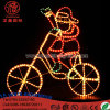LED Ligthing Christmas Santa on Bicycle with Controller Motif Chriatmas Decoration Light