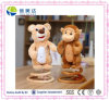 New Design Jumping Plush Bear and Monkey Shape Musical Toy