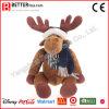 En71 Christmas Toy Plush Reindeer Moose in Scarf