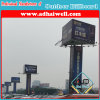 Outdoor LED Frontlit Three Faces Advertising Billboard Structure