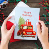 Christmas Cards Set - 24 Holiday Cards with Red Envelopes