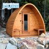 Joyee Dome Rain Drop Roof Round Barrel Tradition Dry Sauna Bath Wooden Red Cedar Sauna Outdoor