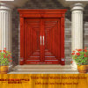 Solid Wood Modern Villa Door Entrance Security Door (XS1-021)