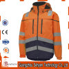 Hi-Vis Safety Reflective Waterproof and Windproof Jacket with Hoody