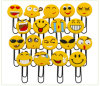 Smile Face 3D Soft Rubber Paperclips Pin Bookmarks