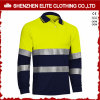 Hi Vis Long Sleeve Men Safety 3m Reflective Polo Shirts