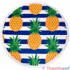 Printed Microfiber Round Beach Towel (Pineapple Gang)