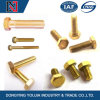 Hot Sale Decorative Yellow Zinc Plated Hex Head Bolt with Full Thread