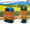 High Quality Trash Can for Outdoor Steel and Wooden Rubbish Bin (M11-13807)