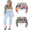Cheap Wholesale Printed Cropped Sweatshirts (ELTSTJ-742)