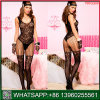 China Cheap Price Black U-Shaped Neck Fishnet Sexy Underwear
