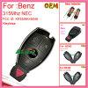 Auto Verre Sleutel Keyless met 3+1 Knoop 315MHz voor voor Benz
