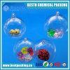 5cm 12cm bola hueca de plástico transparente para decoraciones de Navidad