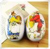 赤いおよびブルー・ピーターのウサギの方法結婚式はキャンデー包装ボックスイースターエッグの創造的なギフトの結婚式の錫ボックスを供給する