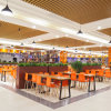 대학 Cateen 대중음식점 가구 식탁 및 의자 (SP-CS394)