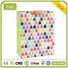 Regentropfen-Muster farbiger Kunst-überzogenes Geschenk-Papierbeutel