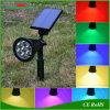 7LEDs RGB Zonne Lichte LEIDENE van de Weg Openlucht Waterdichte Verlichting van Schijnwerpers