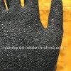 Черный мятым эффектом перчатки защитные перчатки из латекса черного цвета