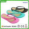 Fracasos de tirón planos del PVC de las señoras del zapato de la playa del verano (RW28276)