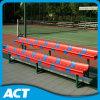 Banco de aluminio con los asientos plásticos de la gimnasia