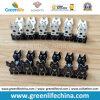 Nuevos Paperclips negros/blancos plásticos vendedores de la carpeta de la forma del gato de la hoja