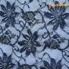 Nova Flor azul tecido cadarço de malha