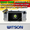 Carro DVD GPS do Android 5.1 de Witson para Toyota Hilux 2012 com sustentação do Internet DVR da ROM WiFi 3G do chipset 1080P 16g (A5709)