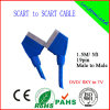 100% испытало 1.5m 21pin Scart с RoHS Certificate (SY019)