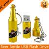 USB de encargo Pendrive (YT-1216) de la botella de cerveza del oro de la insignia