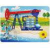 Parede popular do enigma das crianças do estilo que coleta o brinquedo do petróleo