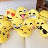 Baumwolleweiches Emoji Kissen der Dekoration-pp.