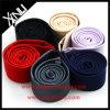 Laços magros magros tecidos seda da forma 100% dos homens de cor contínua