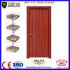 Último projeto de PVC simples de madeira coberto a porta do quarto
