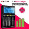 Cargador de batería recargable elegante de Miboxer C4 para el cargador de batería del Li-ion Battery/18650/Ni-MH/Ni-CD/LiFePO4/AA AAA