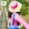 2017 Chapéu de palha de renda novo com molho de chifre com fita de verão