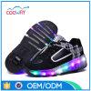 新しいデザイン工場ライト車輪は子供LEDのローラースケートの靴に蹄鉄を打つ