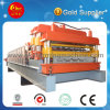 Double couche de tuiles de pression à froid de la machine pour les différents panneaux de rouleau de queue d'aronde formant la machine