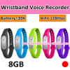 Time Setting를 가진 Wh07 Wristband Hidden Voice Recorder 8GB
