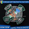 Pin значка металла никеля с эмалью цвета здания выбивая