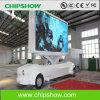 Mêlée P10 extérieur mobile de Chipshow annonçant l'Afficheur LED