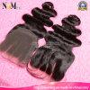 O fechamento suíço brasileiro o mais popular 4X4inch do laço do cabelo humano dos produtos 7A de 100%