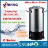 Chaudière de bière d'acier inoxydable de 30 litres pour la cuve-matière électrique à la maison de bière de chaudière de bière de chaudière de vin