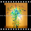 Lampadario a bracci multicolore di Blown Glass Craft per Decoration