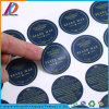 Etiqueta de papel con forma redonda de la etiqueta de impresión