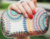 Мешок руки повелительницы Цветка Вечера Муфты Партии Sequins (XW713)